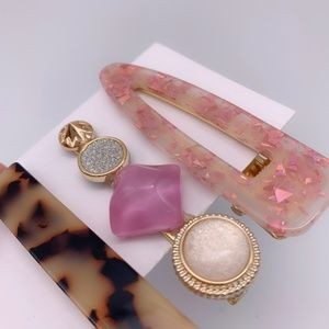 Accessories - 3 Marble Animal Print Clasp Clip Hair Pin Barrette
